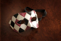 Venetian mask. Beautiful Venetian mask in black, white and red Stock Images