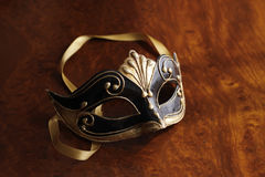 Venetian mask. Beautiful Venetian mask in black, white and red Stock Photography