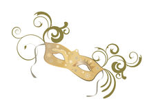 Venetian mask. Illustration of an elegant venetian mask with floral elements Stock Photo