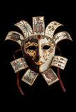 Venetian mask. Carnival Mask from Venetian Carnival isolated on black Stock Image