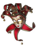 Venetian mask. Sophisticated venetian mask isolated against a white background royalty free stock image