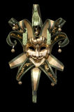 Venetian mask. On a black background royalty free stock photo