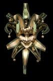 Venetian mask. On a black background Royalty Free Stock Photo