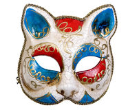 Venetian Mask. A beautiful carnivale mask from venice Italy. Isolated on white Stock Images