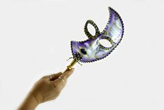 Venetian mask. On white with soft shadow Royalty Free Stock Images