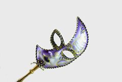Venetian mask. On white with soft shadow Royalty Free Stock Photos