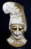 Venetian mask. Handmade venetian carnival mask on black background Stock Photos