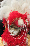 Venetian mask. Portrait of a beautifully decorated venetian mask