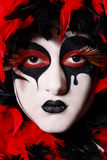 Venetian mask. Portrait of woman with faceart like venetian mask royalty free stock photos