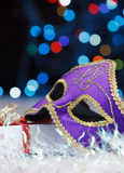 The Venetian mask on a abstract background Stock Photography