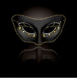 Venetian mask with black background Stock Image