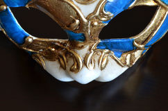 Venetian mask of a cat muzzle Stock Image