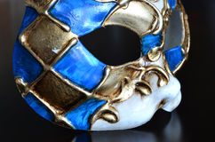 Venetian mask of a cat muzzle Stock Image