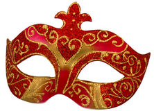 Venetian Mask with clipping path. Venetian Mask isolated on white with clipping path Royalty Free Stock Photo