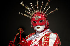 Venetian mask and costume Royalty Free Stock Photos