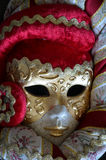 Venetian mask. On a dark background Royalty Free Stock Image