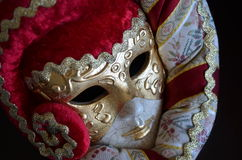 Venetian mask. On a dark background Stock Photo