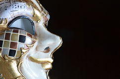 Venetian mask. On a dark background Stock Image