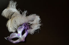 Venetian mask with feathers Stock Photo