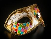 Venetian mask harlequin style Royalty Free Stock Photo