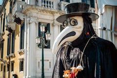 Venetian mask. Historic mask of the Venetian doctor Royalty Free Stock Photo