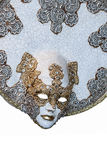 Venetian mask. Large ceramic venetian carnival mask on white Stock Photography