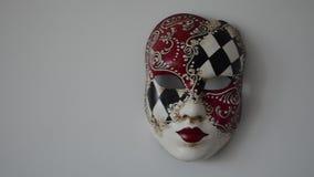 Venetian mask. On a light background stock video