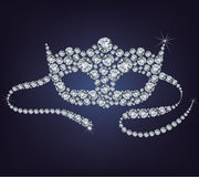 Venetian mask made from diamonds. Venetian Carnival mask made from diamonds vector illustration