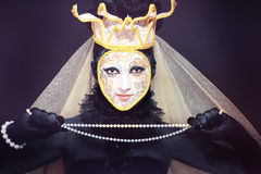 Venetian mask make up Royalty Free Stock Images