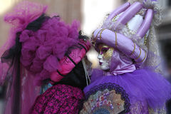 Venetian mask. Pair mask from carnival of venice Stock Images