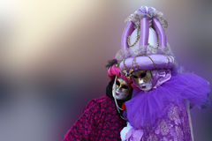 Venetian mask. Pair mask from carnival of venice Stock Photos