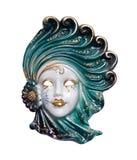 Venetian mask porcelain. Decorative venetian carnival  mask made of porcelain / china isolated on white background / backdrop Stock Photos