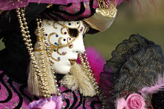 Venetian mask (profile) stock photography