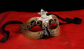 Venetian Mask On Red Stock Photo