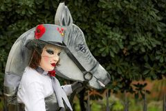 Venetian Masked Model Stock Images
