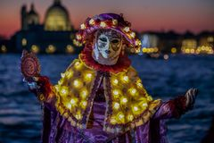 Venetian Masked Model Royalty Free Stock Photography