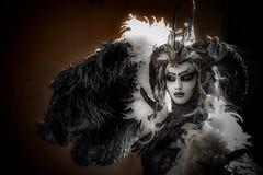 Venetian Masked Models. Venetian masked model during Carnevale Royalty Free Stock Photos