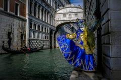 Venetian Masked Models. Venetian masked model during Carnevale Royalty Free Stock Photo