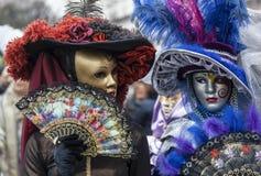 Venetian maskerar Arkivbilder