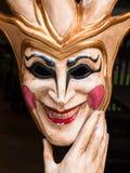 Venetian maskering för karneval i guld och vit Fotografering för Bildbyråer