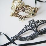 Venetian maskering för tappning på trä Royaltyfria Bilder