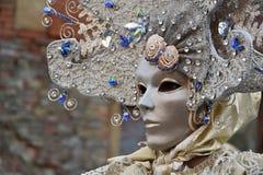 Venetian maskering för traditionell karneval Arkivfoto