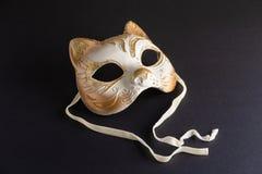 Venetian maskering i formen av en katt för karneval royaltyfria foton