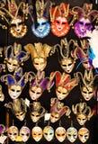 Venetian maskeringar för karneval Royaltyfri Bild