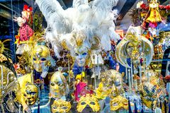 Venetian maskeringar Venedig Italien Royaltyfria Bilder
