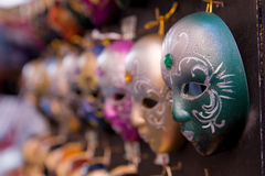 Venetian masks. A collection on economical venetian masks Stock Photo