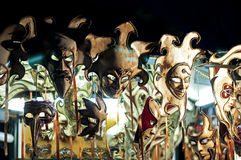 Venetian masks. Displayed in a stall Royalty Free Stock Images