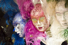 Venetian masks. Ornate Venetian masks on sale in Venice Italy. An iconic symbol of Venice Stock Photography