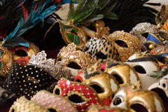 Venetian masks. For display in rows Stock Images