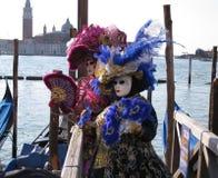 Venetian masks at Carnevale di Venezia Royalty Free Stock Photo